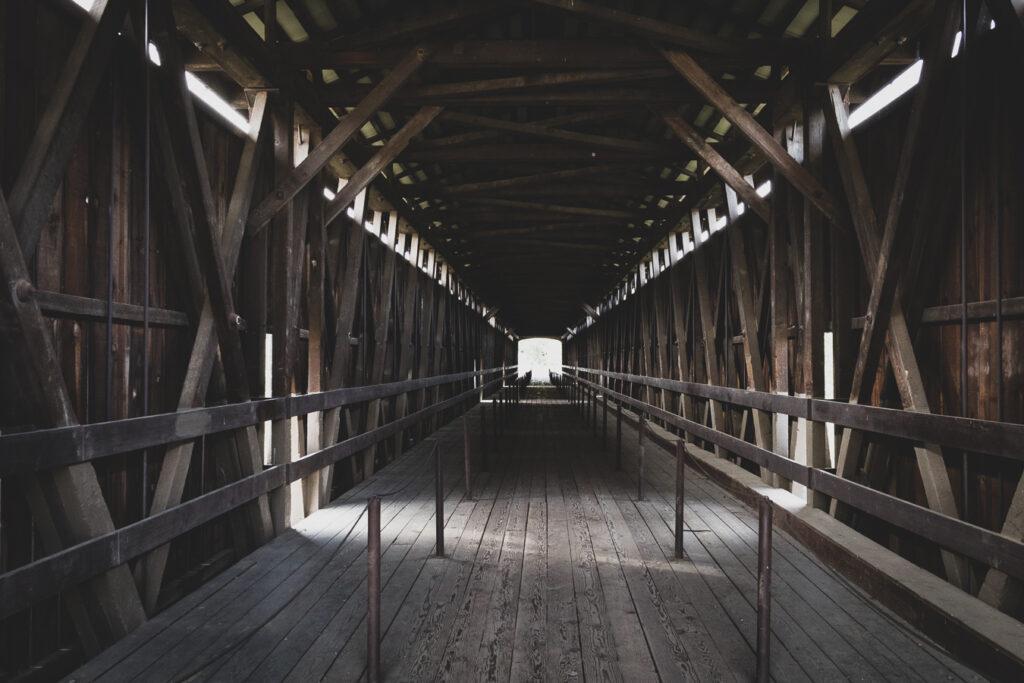 Covered Bridge Knights Ferry, California