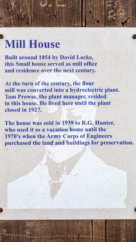 Old Mill House - History Plaque